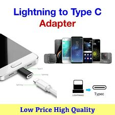 Lightning iPhone Female to Type C USB - C Male Charger Adapter for Galaxy S8 S9+