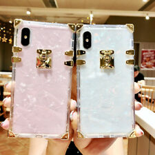 For iPhone 6 7 8 X XS Max XR Shell Pattern Square Soft TPU Shockproof Case Cover