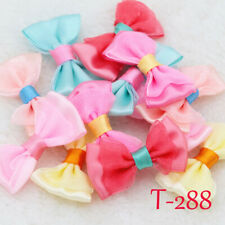 85/120 Mini Satin Ribbon Flowers Organza Bows Appliques/craft/Wedding Decoration