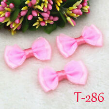 DIY 85/120Pcs Satin Ribbon Flowers Organza Bows Appliques/Craft/Wedding decor