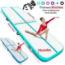 8in Thick Air Track Inflatable Floor Home Gymnastics Tumbling Mat GYM w/Pump