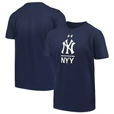 New York Yankees Under Armour Youth Armour Lock-Up Charged Performance T-Shirt -