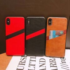 Luxury PU Leather Card Slots Slim Case Cover for iPhone X XS MAX XR 6 7 8 Plus