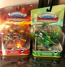 Skylanders SuperChargers Figures Cars Lot  Stealth Stinger & Burn-Cycle New