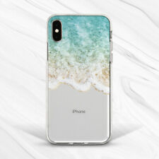 Water Wave Nature Sea Ocean Clear Case Cover For iPhone 7 8 Xs Max XR Plus 6s