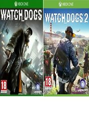 Watch Dogs 1 & 2 Xbox one-Excellent-1st Class Fast & Free Delivery