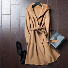 Woman Coat BELIARST 2019 Autumn and Winter Pure Wool Coat Casual Hooded Cardigan