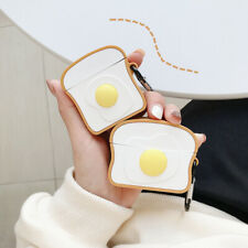 For Apple AirPods Pro 2 Charging Case Cute Egg Toast Design Silicone Skin Cover
