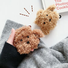For Apple AirPods 1&2 Charging Case Cute Teddy Dog Fur Plush Fluffy Skin Cover