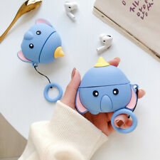 For Apple AirPods Pro Charging Case 3D Cute Elephant Silicone Strap Skin Cover
