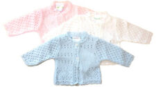 Baby boy girl pink blue knitted cardigan 3-5 5-8 8-12 lbs tiny baby premataure