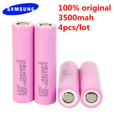 Brand New LOT 4-50pcs Samsung INR18650 35E 3500mAh High Drain Battery  Flat head