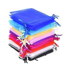 7x9cm 50pcs/bag 19Colors Jewellery Packaging Drawable Organza Gift pouch BEST !