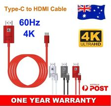 USB Type-C to HDMI Adapter Cable Cord 4K 60Hz For Nokia 9 PureView Netflix to TV