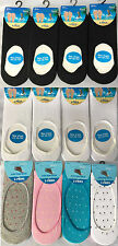 12 PAIRS FRESH FEEL ANTI SLIP LADIES WOMENS COTTON INVISIBLE SOCKS UK 4-7 L10802