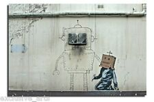 INSPIRING BANKSY GRAFFITI CANVAS ART PICTURE/PRINT ROBOT BOXHEAD WALL ART