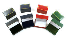 10 Luxury Leatherette Double Ring Boxes - Colour Choice