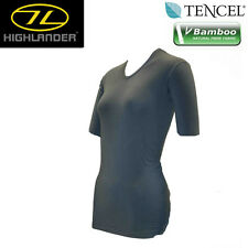 HIGHLANDER CLIMATE X BAMBOO BASE LAYER SHORT SLEEVE TOP SIZE S-XL LADIES WARM