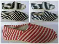 Mens Stripey Espadrilles in Red Blue or Black and White Stripes