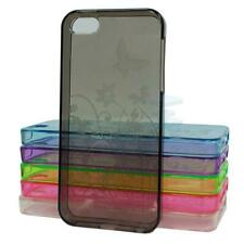 Hard Wearing Silicone Gel Skin Case Cover Butterfly Flower For iPhone 5,5S,SE