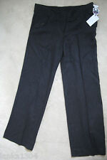 Hoxton Chic Linen blend pinstripe Formal Office Trousers (NEW) UK size 12