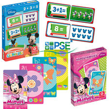 DISNEY CHILDRENS CARD GAME HAPPY FAMILIES MICKEY MINNIE MOUSE CLUBHOUSE COUNTING