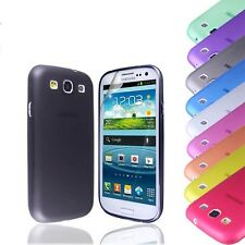 Ultra Thin Lightweight Case Cover FOR Samsung Galaxy S3 III i9300+Screen Film