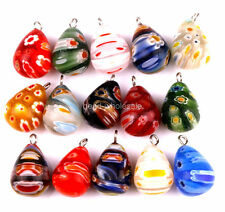 30pcs New Charm Millefiori Glass Tear Drop Pendants Charms For Earring Necklace