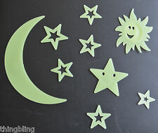 Glows Stars - Sun Moon and Planets Pack Glow in the Dark Kids Nursery