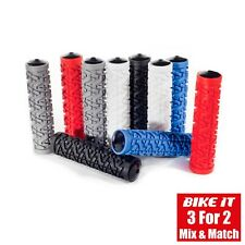 GREY HANDLE BAR GRIPS - MOUNTAIN BIKE MTB BMX BICYCLE CYCLING CYCLE SCOOTER 1PR