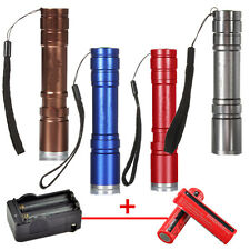 2600LM T6 LED ZOOMABLE 5-Modes Flashlight Torch 18650 Charger Set