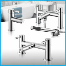 Chrome Bath Shower Mixer Filler Bathroom Basin Sink Taps Modern Peg Lever Style