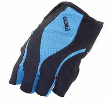 EIGO CYCLING GLOVES FINGERLESS S-XL HALF FINGER BICYCLE BIKE MTB ROAD - BLUE