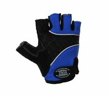 EIGO CYCLING GLOVES FINGERLESS S-XL HALF FINGER BIKE MTB ROAD GEL PADDED BLUE