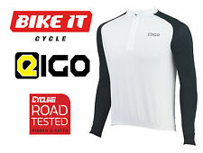 2016 NEW EIGO TEMPEST CYCLING JERSEY - LONG SLEEVE WHITE - MTB ROAD BIKE CYCLE