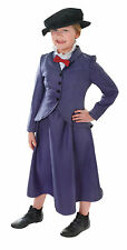 NANNY COSTUME CHILD VICTORIAN MARY POPPINS FANCY DRESS BOOK DAY GIRLS 2 SIZES