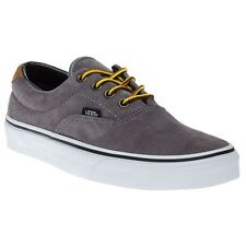 New Boys Vans Grey Era 59 Suede Trainers Canvas Lace Up