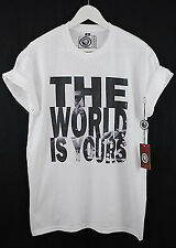 Brooklyn Zoo Scarface Movie The World Is Yours Tee Black White Mono T Shirt