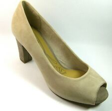 JANA New Ivory/Beige Suede Ladies Peeptoe Shoes Size 4 or 5.5
