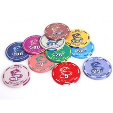LUCKY DRAGON POKER CHIPS CERAMIC SUNFLY CASINO 10g 39mm HIGH QUALITY SAMPLE SET