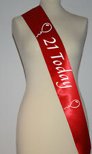 Birthday Sash Personalised Birthdays 16th 18th 21st 40th 50th All Occasions RED