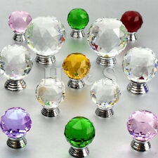 Crystal Glass Door Knobs Drawer Cabinet Cupboard Furniture Kitchen Handle - Pull