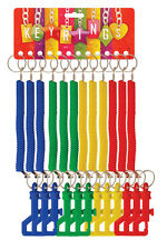 STRETCHY NEON SPIRAL STRETCH SPRINGY COILED KEYRING KEYCHAIN WORK ID BRAND NEW