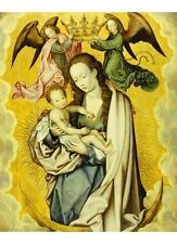 """ANONYMOUS """"Virgin And Child In Glory"""" RELIGIOUS choose SIZE, from 55cm up, NEW"""