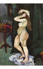 SUZANNE VALADON Nude Brushing Hair VOLUPTUOUS woman ribbons CANVAS PRINT giclee