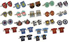 OFFICIAL FOOTBALL CLUB - CUFFLINKS - Crest & Shirt Shaped
