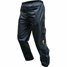MOTRAX UNLINED WATERPROOF MOTORCYCLE MOTORBIKE BLACK RAIN OVER PANTS TROUSERS
