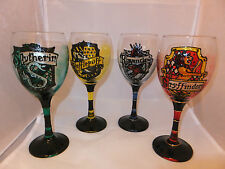 Hogwarts House Wine Glass Harry Potter Gryffindor Ravenclaw Hufflepuff Slytherin