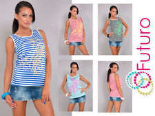 Women's Vest Top DRAGONFLY Print Casual Party Viscose T-Shirt Sizes 8-16 B20