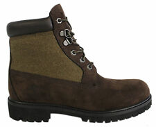 Timberland 6 Inch Panel Mens Boots Brown Leather Lace Up Casual 48517 D34